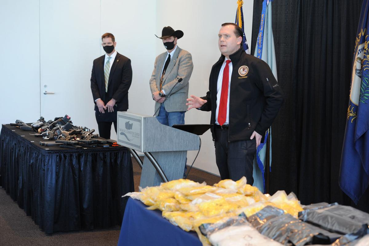 Law enforcement announces seizure of more than 150 pounds of meth in drug trafficking investigation