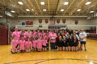 Volleyball program holds Pink Out for Peek