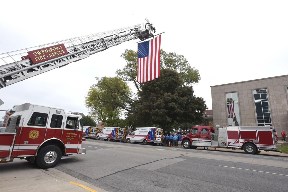 Memorial to first responders killed in line of duty dedicated at county courthouse
