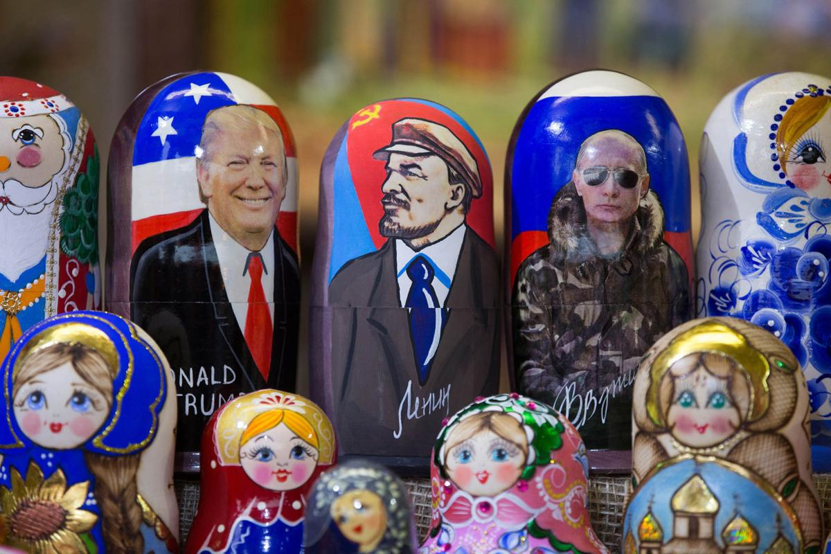 Image result for Trump, Putin, Russian nesting dolls, photos