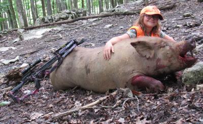 Cottrell nabs 500 pound hog 1