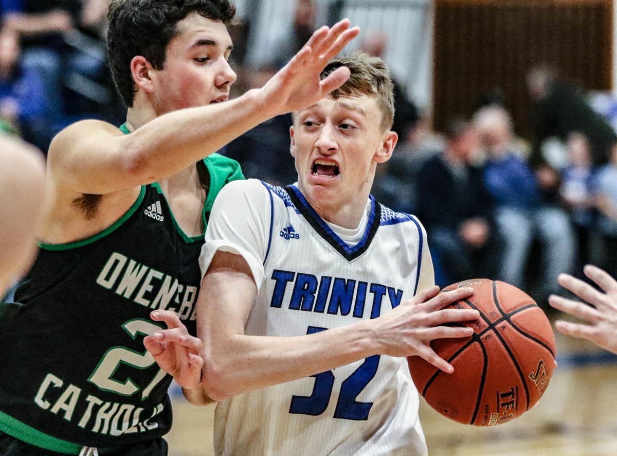 Catholic at Whitesville Trinity basketball