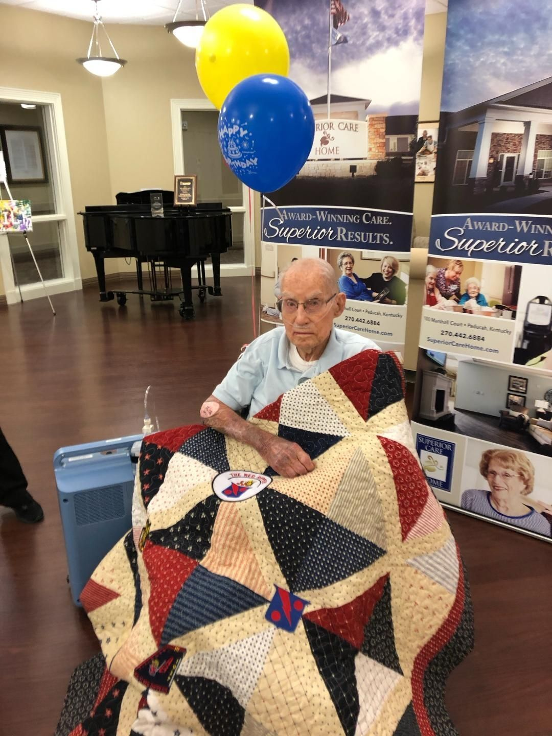 Metropolis WWII veteran honored with Quilt of Valor
