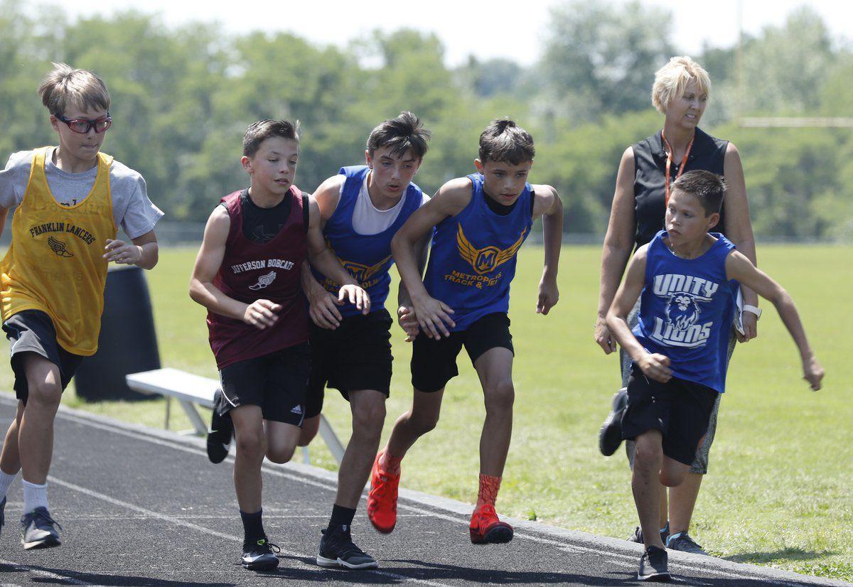 Six squads participate in track and field event