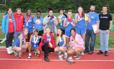 Lady Pats track take third on Ohio side at conference meet