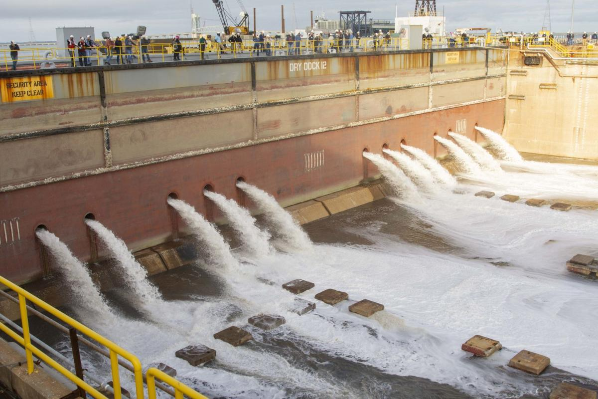 PCU John F. Kennedy Crew Marks another Milestone, Flooding of Dry Dock