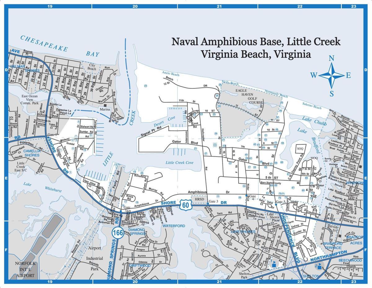 Little Creek Base Map Map of Naval Amphibious Base Little Creek | Relocation