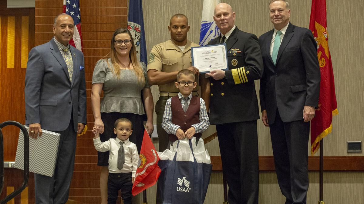 ASYMCA, East Coast's top Admiral honor local service members