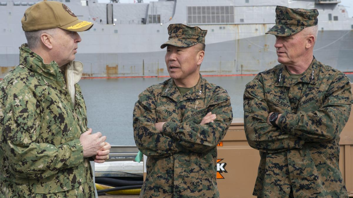 USMC Leadership visit to USS John Warner