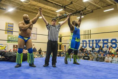 "The Golden Pinky Society, ""Diamond"" Victor Griff (L) and Benjamin Banks (R), will compete for the VCW Tag Team Championships this Saturday at Norfolk Masonic Temple."