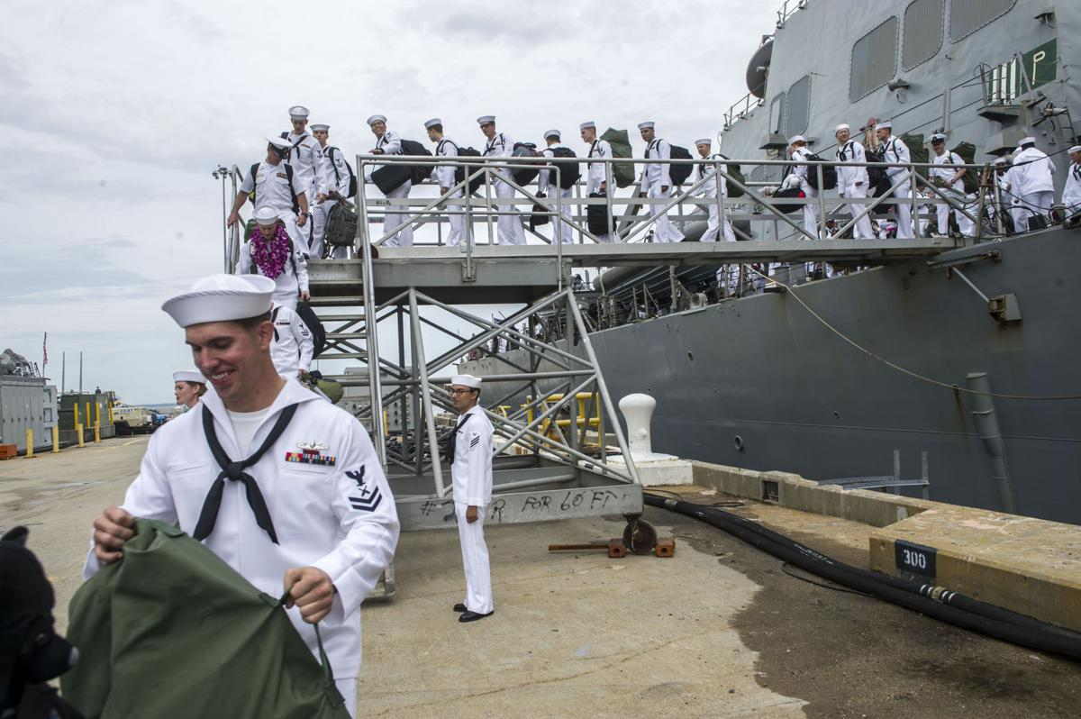USS Mahan (DDG 72) homecoming