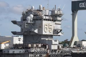 Navy looking at commercial options for 'Big E' disposal