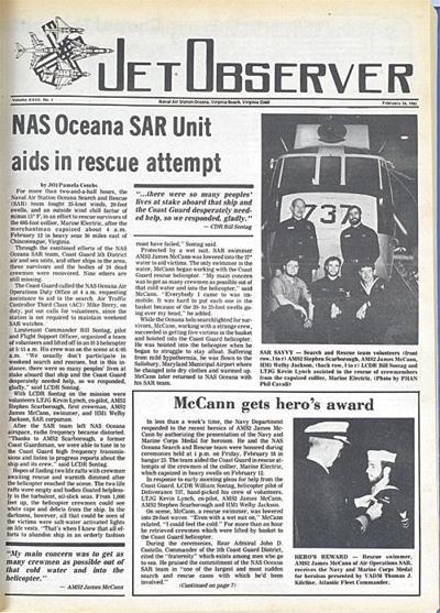 NAS Oceana SAR Unit aids in rescue attempt