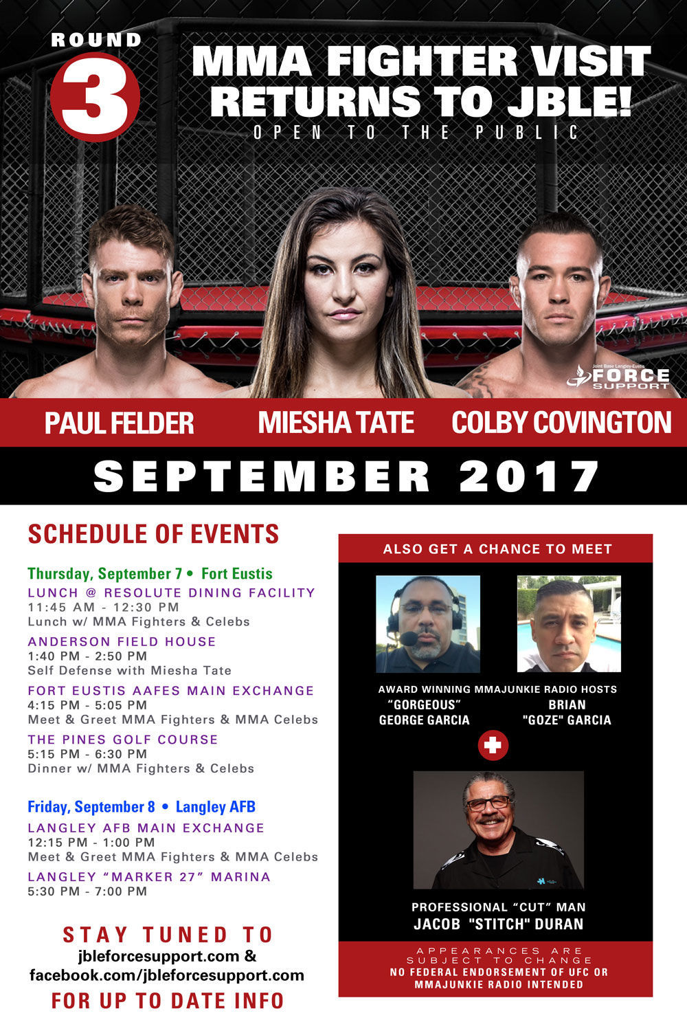 Round 3 Ufc Fighters And Mma Celebs Visit Jble Air Force News
