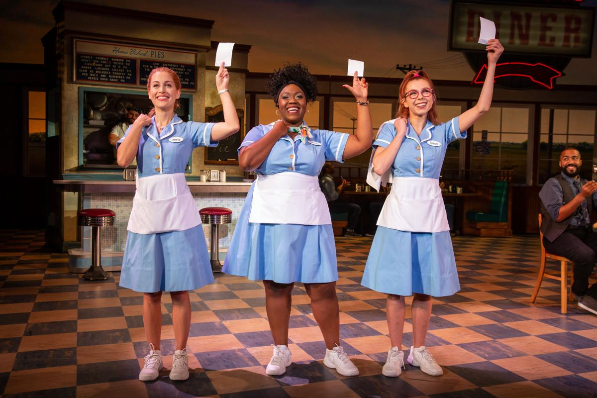 Bailey McCall as Jenna, Kennedy Salters as Becky, and Gabriella Marzetta as Dawn in the National Tour of Waitress _ Photo credit Jeremy Daniel.JPG