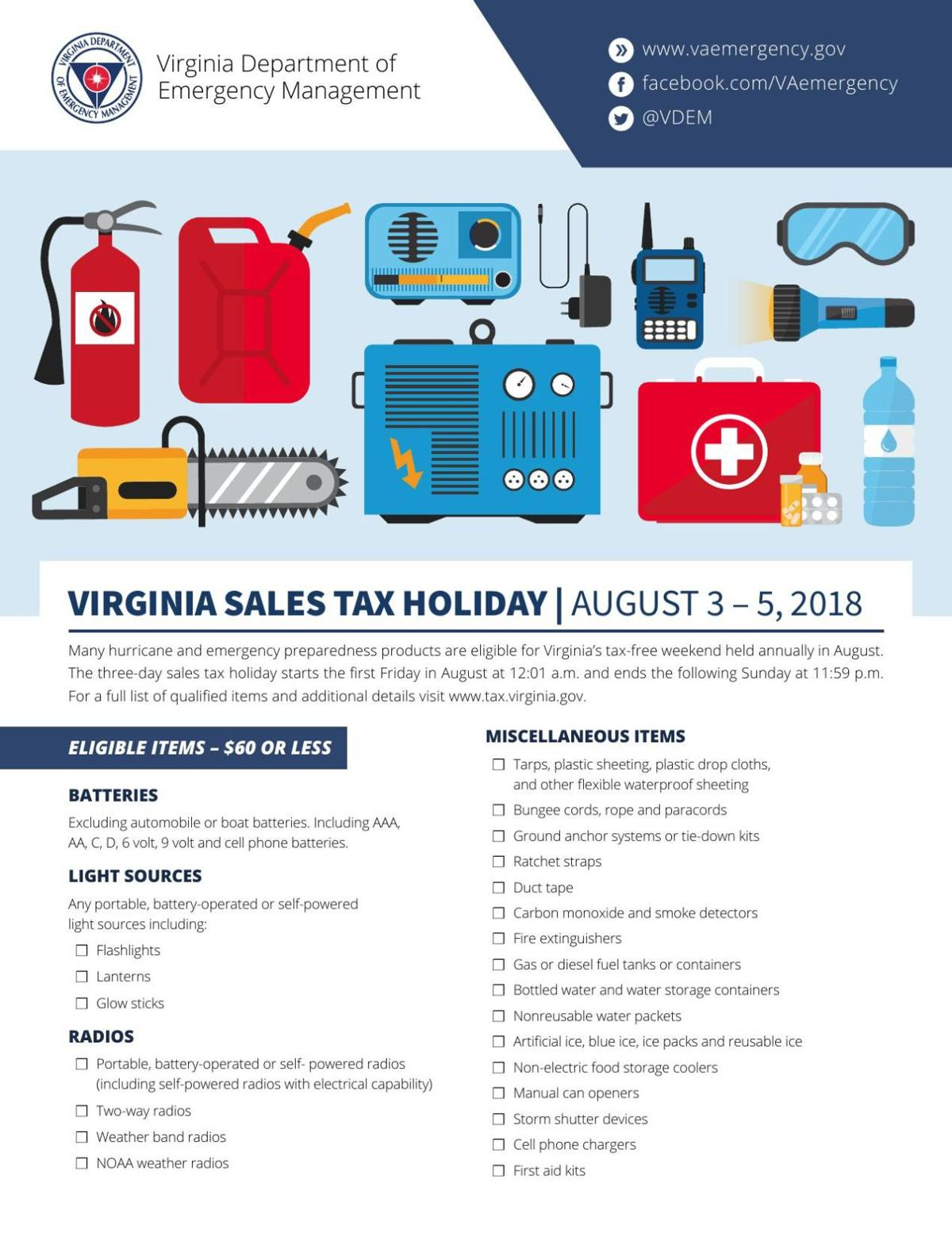What Is The Sales Tax In Virginia >> Virginia Sales Tax Holiday August 3 5 2018 Militarynews Com