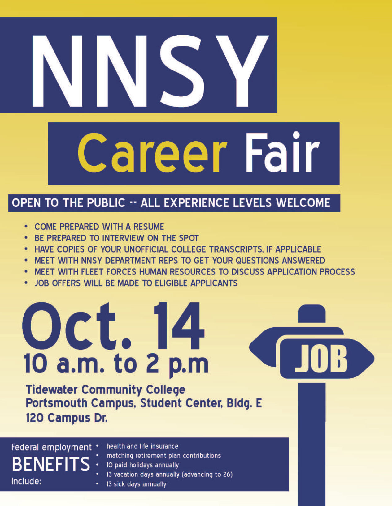 Norfolk Naval Shipyard To Hold Career Fair At Tcc Portsmouth Top