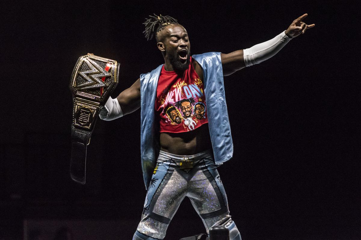 WWE Champion Kofi Kingston at a recent WWE Live event in Petersburg.