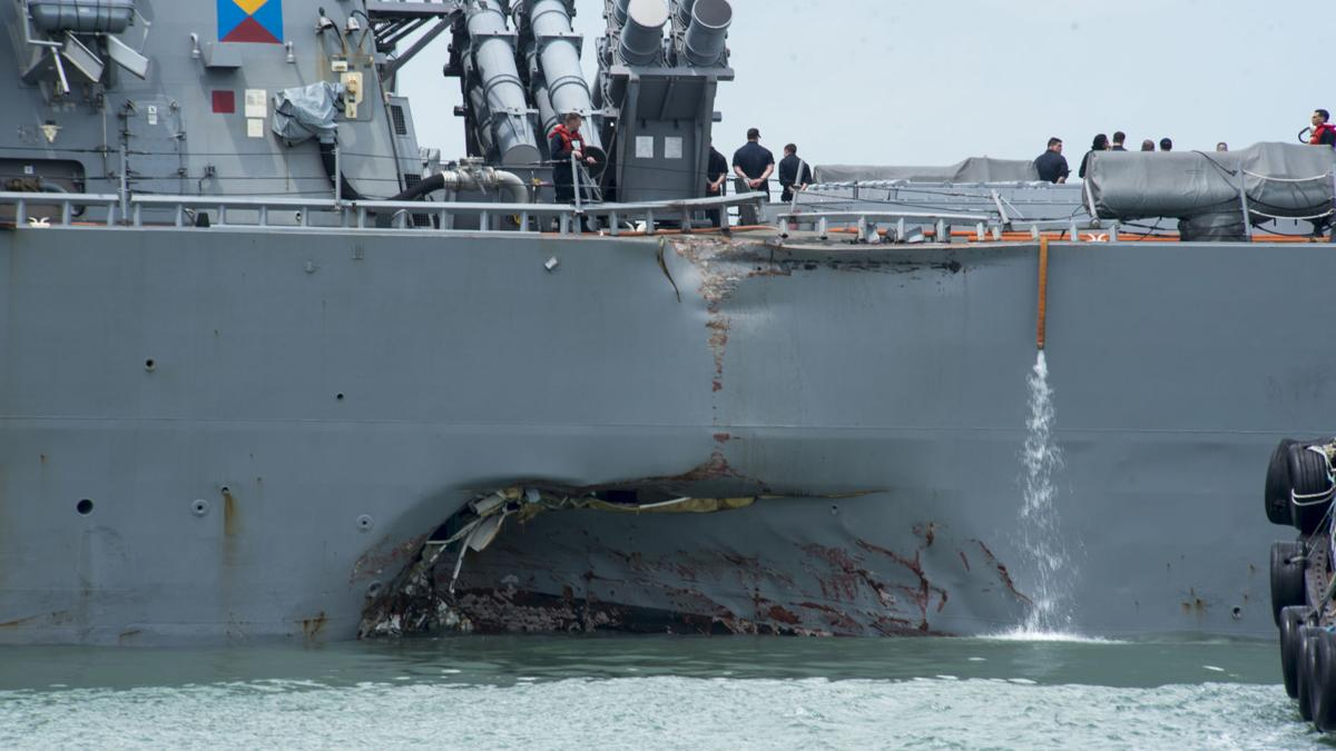 Search efforts continue for USS John S. McCain Sailors