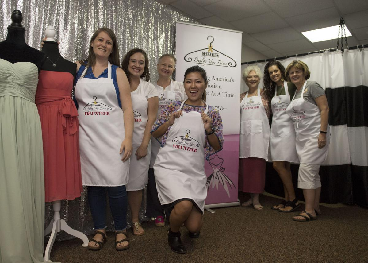 Uplifting others with 'deployed' dresses