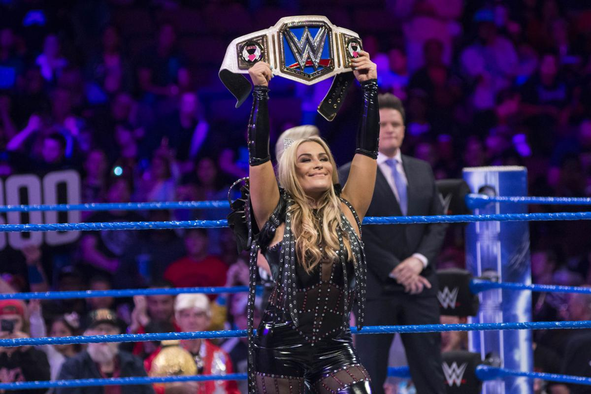 SmackDown Live Women's Champion Natalya at a recent SmackDown Live event in Norfolk, Virginia.