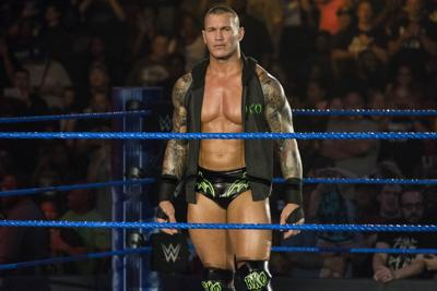 Randy Orton, seen here at a 2019 Norfolk WWE event, will compete against the returning Edge this weekend at WWE WrestleMania.