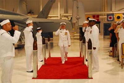 Seth takes command of VFA-31 Fighting Tomcatters | Quarterdeck