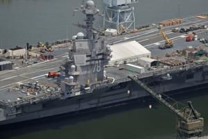 Propulsion plant work complete on aircraft carrier Ford