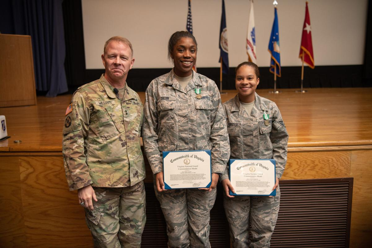 Virginia Adjutant General presents medals at town hall