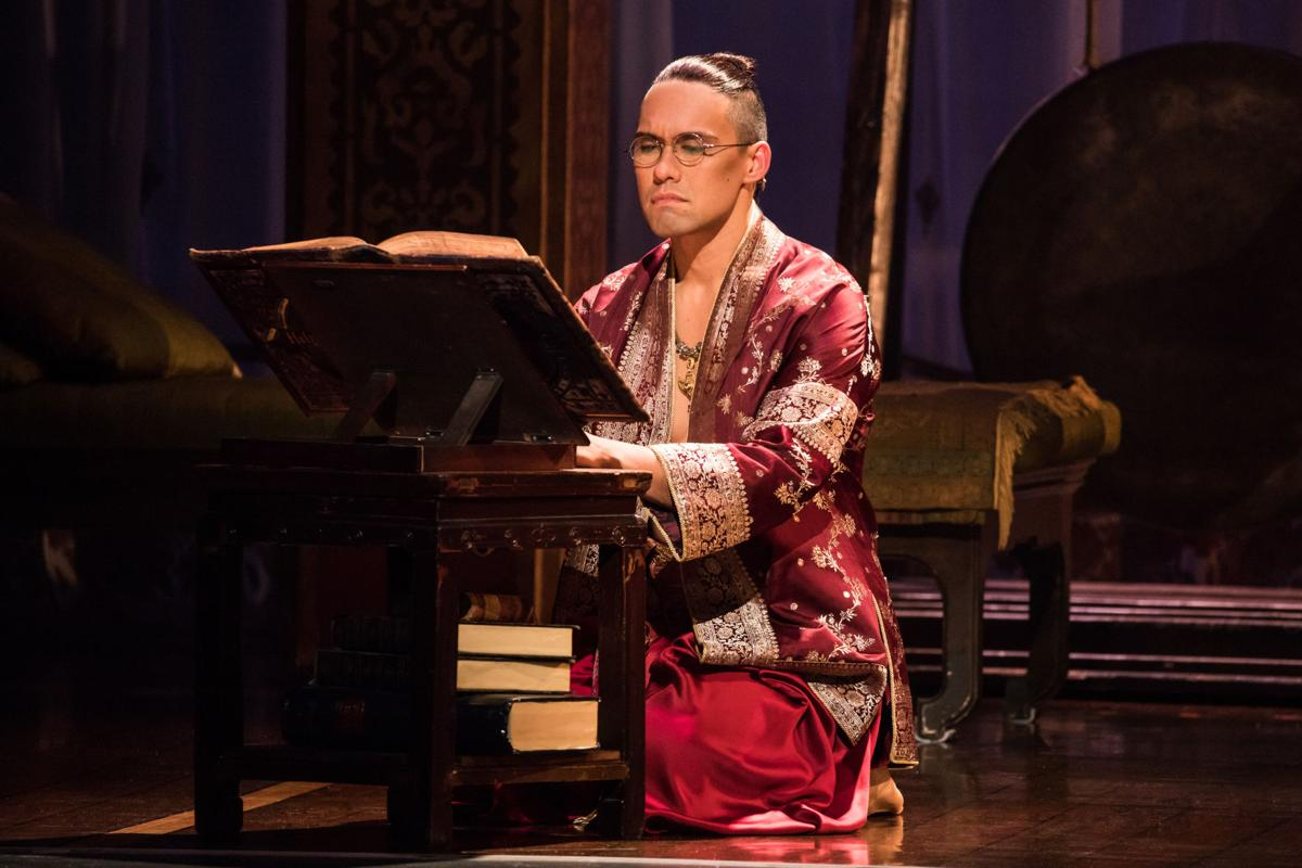 Pedro Ka'awaloa as the King of Siam. Photo by Matthew Murphy..jpg