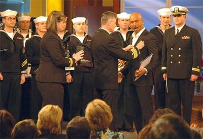 Navy honors Montel Williams