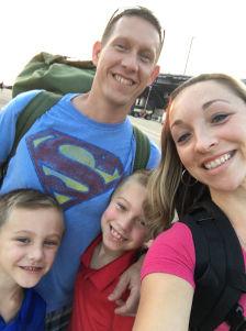Navy wife Amanda-Lee Pitzer and family