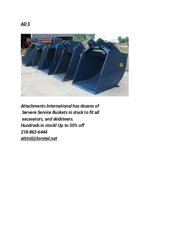 Skidsteer/Excavator Buckets image 1