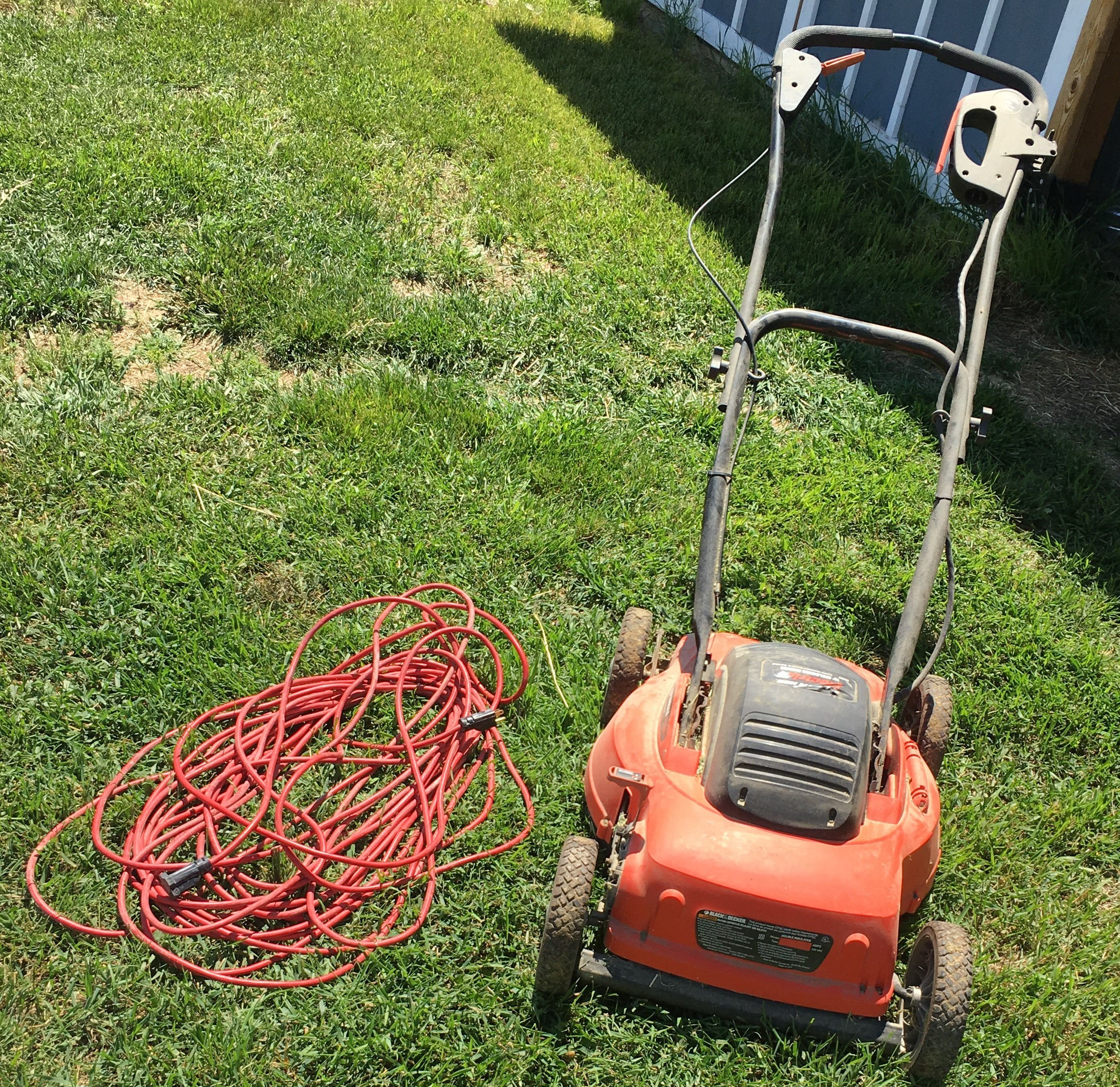 Electric mulching lawn mower with power cord image 1