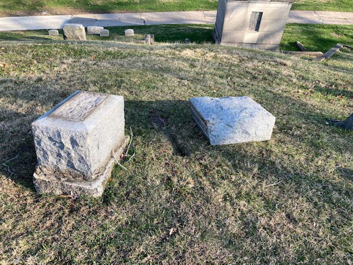 Cemetery vandalism 2