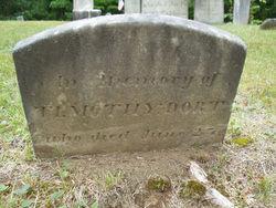 Dart headstone