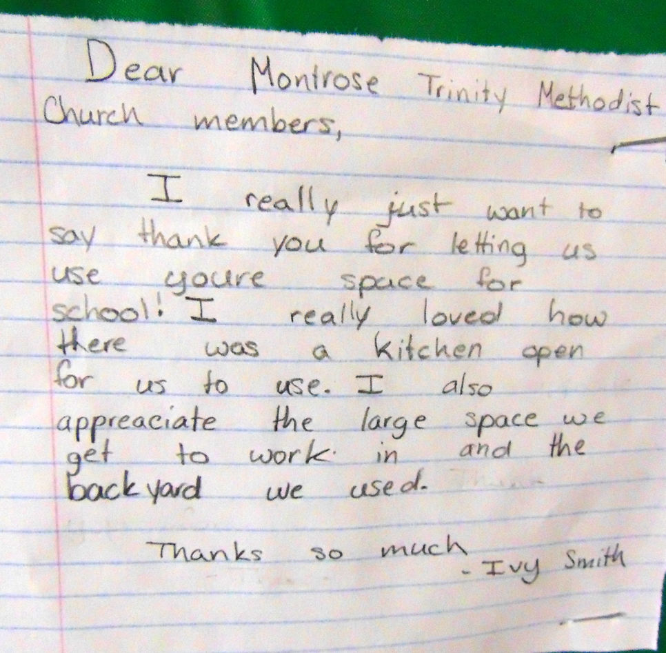 MONT Thank you note