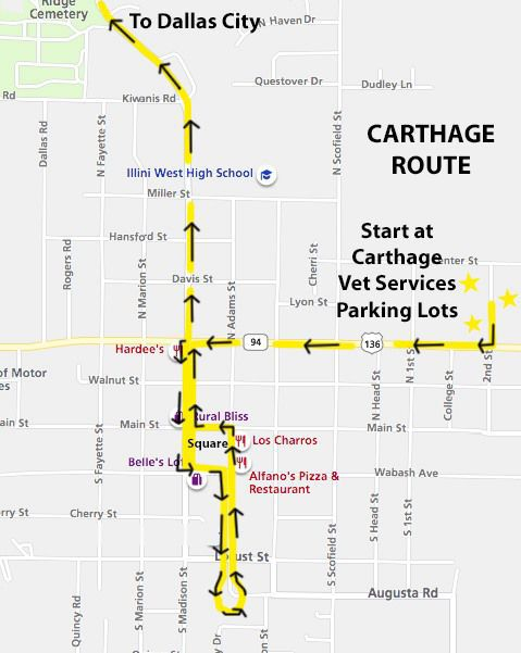 Carthage route