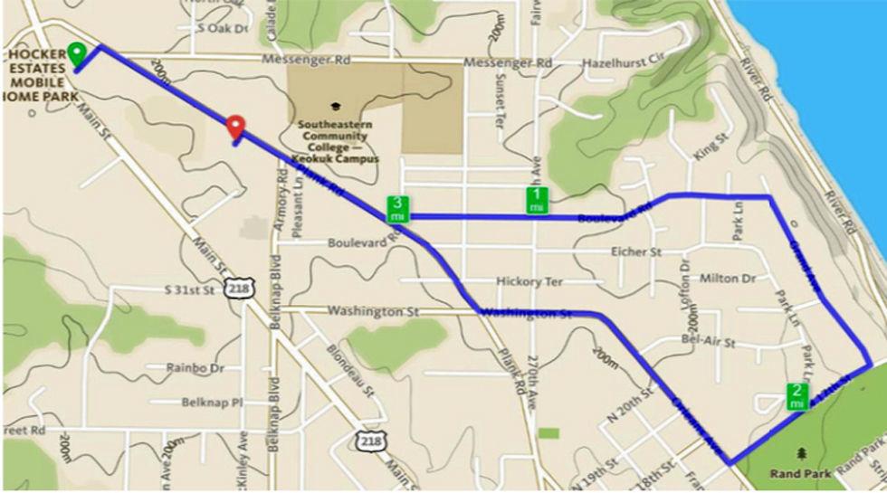 KPlay 5K Beer Run route
