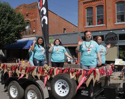 Upward Bound students ride in Rodeo Parade