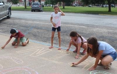 Chalk the Walk at West Point Library (copy)