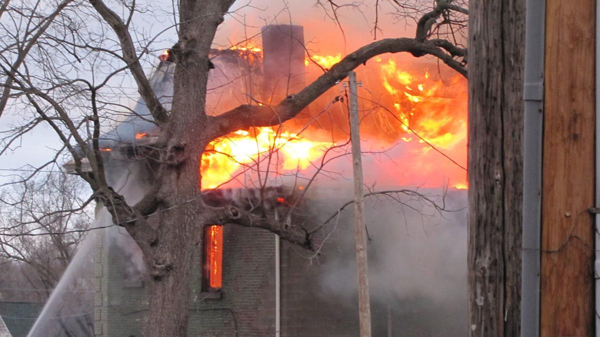 house fire flames
