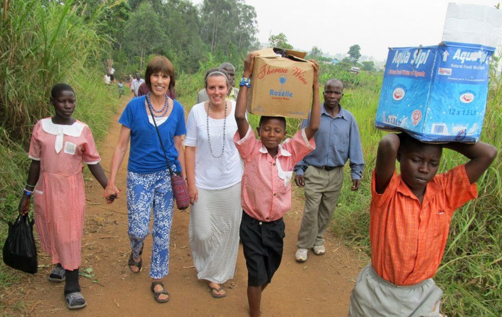 Walking in Uganda