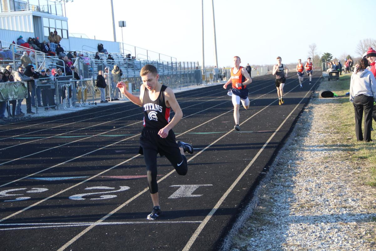 Miles  sheppard  first  Matt Peacock second in 400 meters