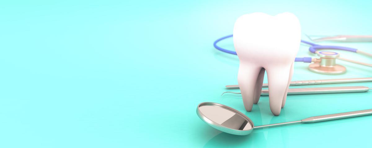 dental equipment background 3d rendering