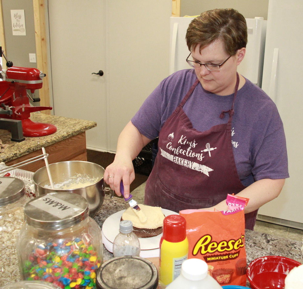 Kim makes another confection