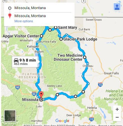Kid-friendly road trip to Glacier National Park   Places ... on map of banff national park, map of glacier park area, yellowstone national park inn accommodations, map of glacier bay park,
