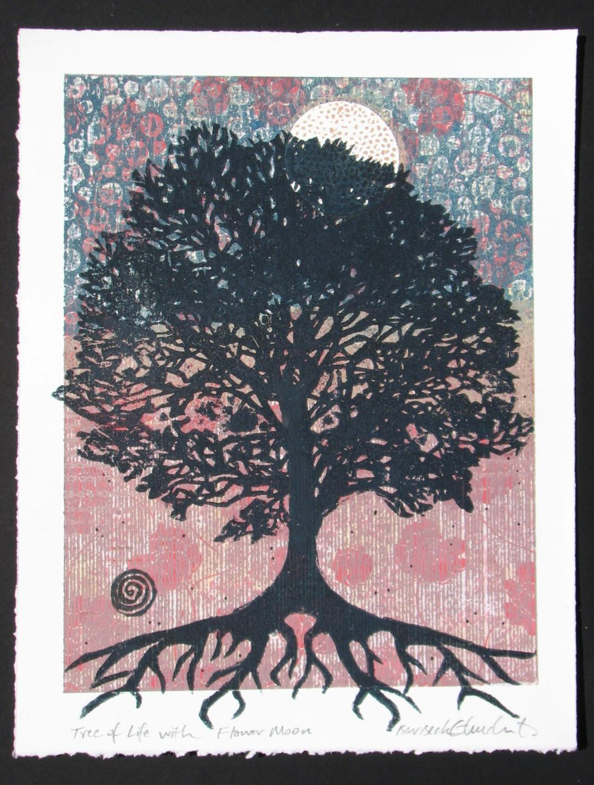 Tree of Life with Flower Moon