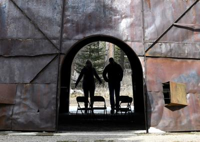 At an outdoor art park in Lincoln, social distance is easy to find