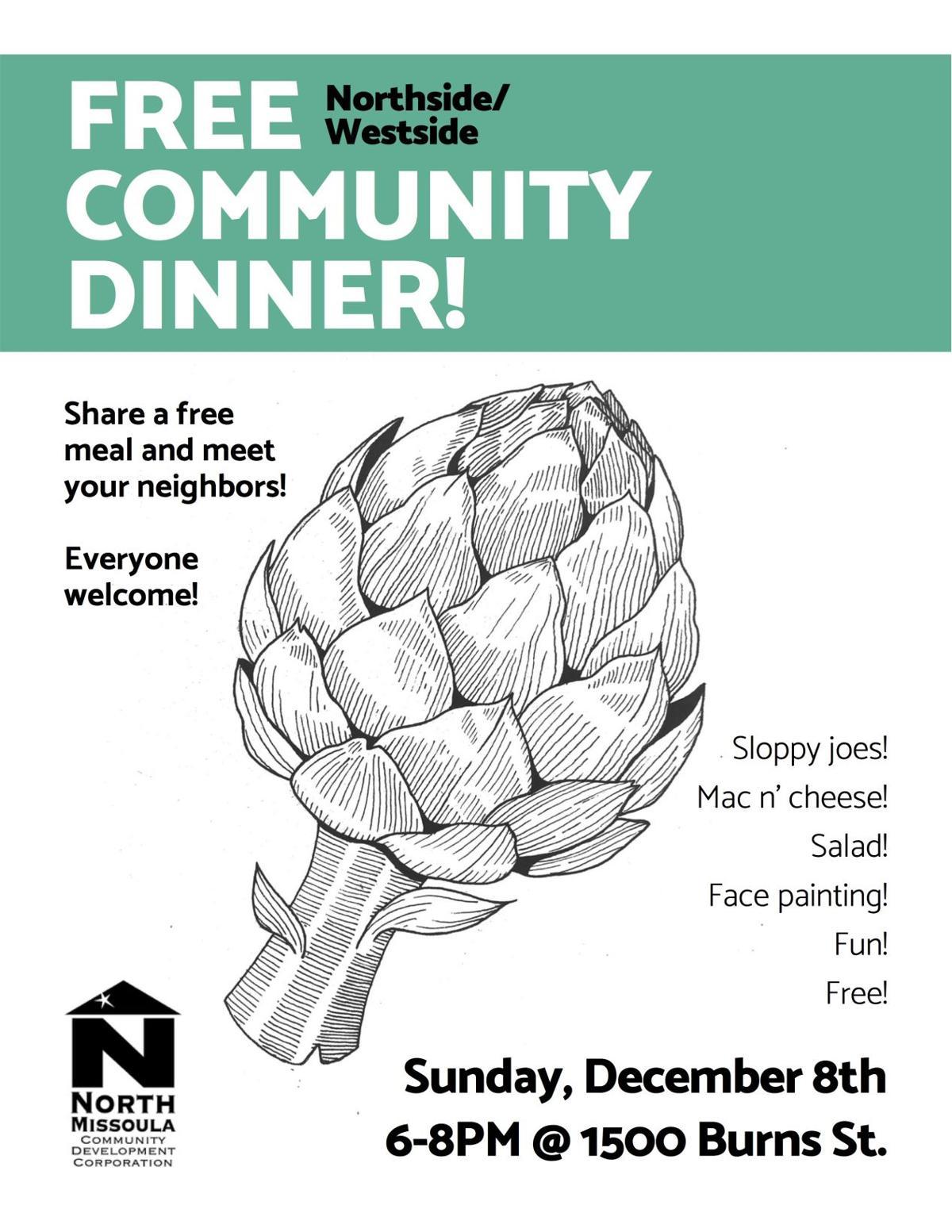 Community Dinner Flyer